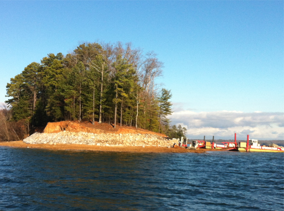 Shoreline and island preservation efforts.
