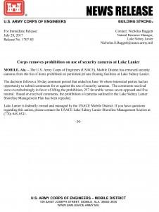 1707-03 Lanier surveillance camera decision