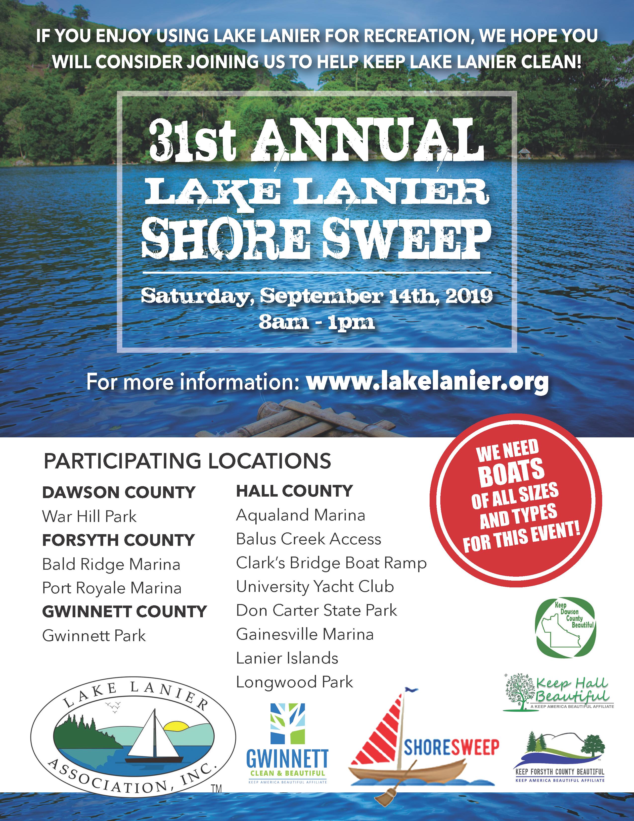 Shore Sweep 2019 Lake Lanier, GA